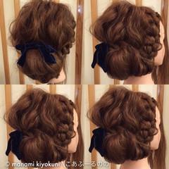 ゆるふわ アップスタイル ロング ヘアアレンジ ヘアスタイルや髪型の写真・画像