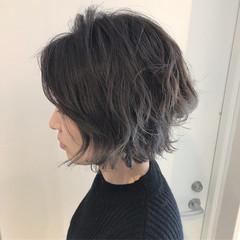 ボブ 大人かわいい ナチュラル 渋谷系 ヘアスタイルや髪型の写真・画像