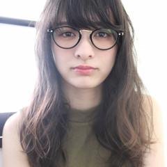 ブラウン セミロング 大人かわいい ゆるふわ ヘアスタイルや髪型の写真・画像