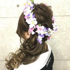 ロング ゆるふわ 外国人風 ヘアアレンジ ヘアスタイルや髪型の写真・画像