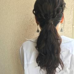 ゆるふわ ヘアアレンジ ロング フェミニン ヘアスタイルや髪型の写真・画像