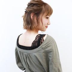 モテ髪 簡単ヘアアレンジ ナチュラル ヘアアレンジ ヘアスタイルや髪型の写真・画像