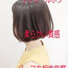 大人ショート 大人女子 ミニボブ ナチュラル ヘアスタイルや髪型の写真・画像
