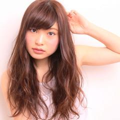おフェロ ガーリー 暗髪 ピンクアッシュ ヘアスタイルや髪型の写真・画像