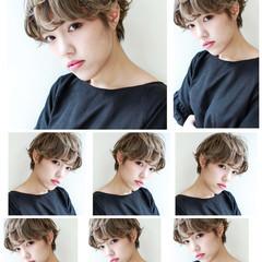 ナチュラル ショート パーマ 外国人風 ヘアスタイルや髪型の写真・画像