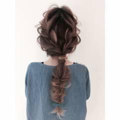 ゆるふわ ヘアアレンジ ガーリー ヘアスタイルや髪型の写真・画像