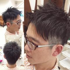 ナチュラル ショート メンズ ヘアスタイルや髪型の写真・画像