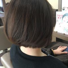 大人女子 ふんわり ナチュラル ボブ ヘアスタイルや髪型の写真・画像