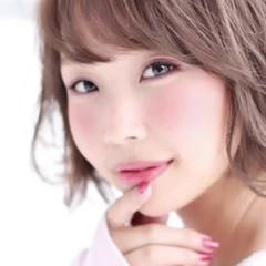フェミニン ボブ モテ髪 アンニュイほつれヘア ヘアスタイルや髪型の写真・画像