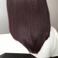 透明感 セミロング オフィス エレガント ヘアスタイルや髪型の写真・画像