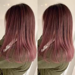 ガーリー ダブルカラー 外国人風 ピンク ヘアスタイルや髪型の写真・画像