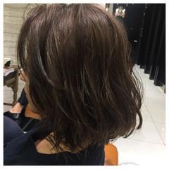 色気 デジタルパーマ ボブ ガーリー ヘアスタイルや髪型の写真・画像