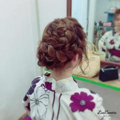花火大会 夏 ヘアアレンジ アップスタイル ヘアスタイルや髪型の写真・画像