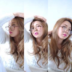 ロング ストリート 外国人風 アッシュ ヘアスタイルや髪型の写真・画像
