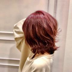 外国人風 ミディアム デート 外ハネ ヘアスタイルや髪型の写真・画像