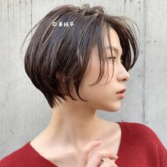 パーマ ナチュラル ミニボブ ショートボブ ヘアスタイルや髪型の写真・画像