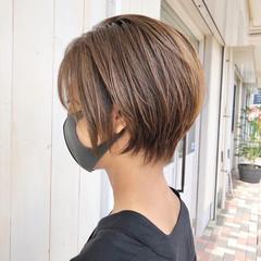 丸みショート ナチュラル コンパクトショート ショートカット ヘアスタイルや髪型の写真・画像