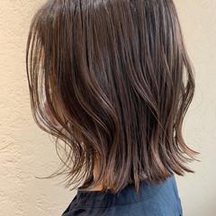 グレージュ アンニュイほつれヘア ミニボブ ボブ ヘアスタイルや髪型の写真・画像