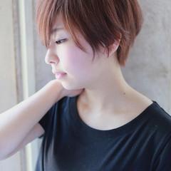 大人可愛い 大人かわいい ナチュラル ベリーショート ヘアスタイルや髪型の写真・画像