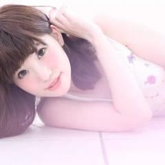 ミディアム 愛され ピンク フェミニン ヘアスタイルや髪型の写真・画像