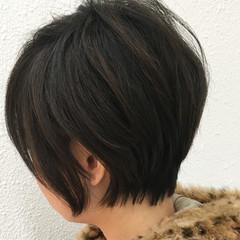 ショート モード 似合わせ 小顔 ヘアスタイルや髪型の写真・画像