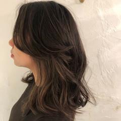 オフィス デート セミロング エレガント ヘアスタイルや髪型の写真・画像