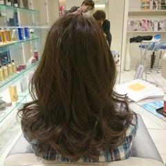 大人かわいい ゆるふわ アッシュ セミロング ヘアスタイルや髪型の写真・画像