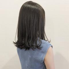 ナチュラル マット 女子力 グレージュ ヘアスタイルや髪型の写真・画像