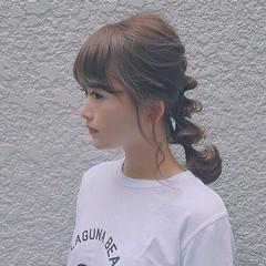 大人かわいい ヘアアレンジ ゆるふわ ミディアム ヘアスタイルや髪型の写真・画像