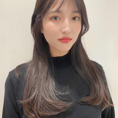 韓国ヘア 艶髪 ナチュラル 韓国風ヘアー ヘアスタイルや髪型の写真・画像