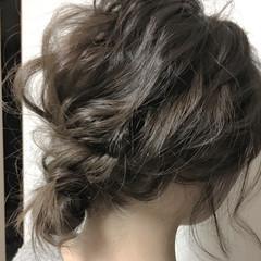 フェミニン 簡単ヘアアレンジ ショート パーティ ヘアスタイルや髪型の写真・画像
