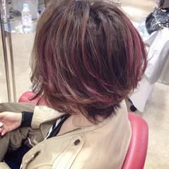 ロング ピンク ストリート モード ヘアスタイルや髪型の写真・画像