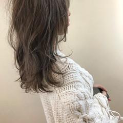 ブリーチ ハイライト セミロング 透明感 ヘアスタイルや髪型の写真・画像