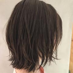 ボブヘアー ボブ ナチュラル 外ハネボブ ヘアスタイルや髪型の写真・画像