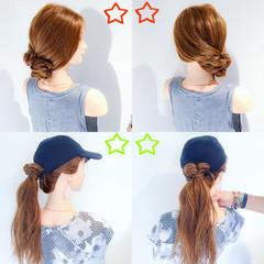 夏 色気 フェミニン ヘアアレンジ ヘアスタイルや髪型の写真・画像