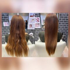 ストレート 髪質改善トリートメント 髪質改善カラー ロング ヘアスタイルや髪型の写真・画像