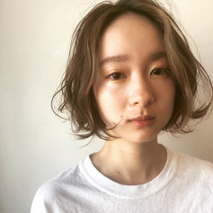 無造作パーマ デジタルパーマ パーマ ヘアスタイルや髪型の写真・画像