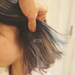 ストリート ハイトーン アッシュ グラデーションカラー ヘアスタイルや髪型の写真・画像
