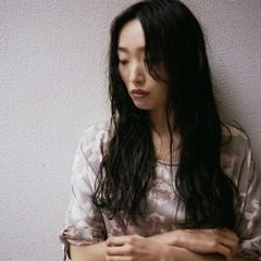 暗髪 アンニュイ モード 黒髪 ヘアスタイルや髪型の写真・画像