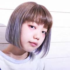 グラデーションカラー ストリート 外国人風 ボブ ヘアスタイルや髪型の写真・画像