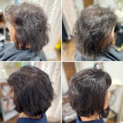 髪質改善カラー ショートボブ ナチュラル 髪質改善 ヘアスタイルや髪型の写真・画像