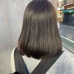 グレージュ 透明感カラー ナチュラル 似合わせカット ヘアスタイルや髪型の写真・画像