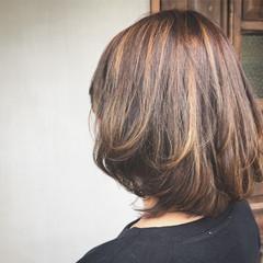 ハイライト 上品 エレガント ブリーチ ヘアスタイルや髪型の写真・画像