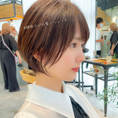 ショートヘア アンニュイほつれヘア ナチュラル ハンサムショート ヘアスタイルや髪型の写真・画像