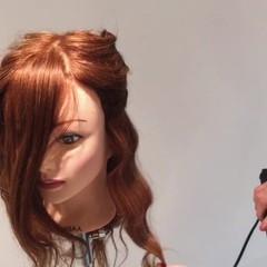 大人かわいい ヘアアレンジ ロング 波ウェーブ ヘアスタイルや髪型の写真・画像