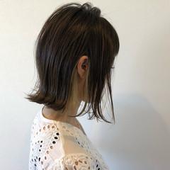 インナーカラー ボブ デート 色気 ヘアスタイルや髪型の写真・画像