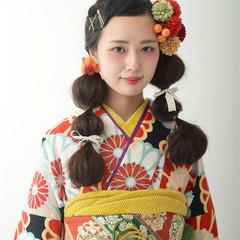 個性的 成人式 着物 ヘアアレンジ ヘアスタイルや髪型の写真・画像