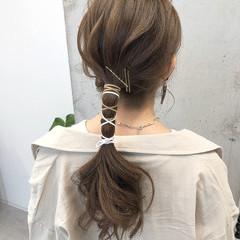 紐アレンジ ポニーテール オリージュ ナチュラル ヘアスタイルや髪型の写真・画像