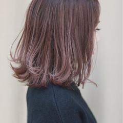 ミディアム オルチャン イルミナカラー デート ヘアスタイルや髪型の写真・画像