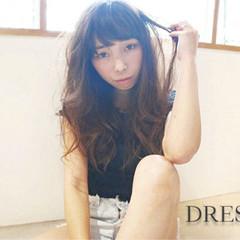 フェミニン ゆるふわ ロング 外国人風 ヘアスタイルや髪型の写真・画像